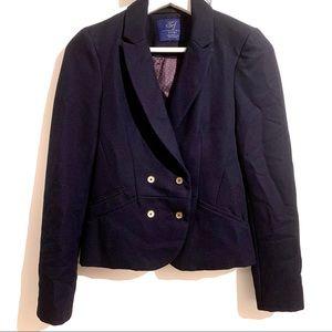 ZARA Trafaluc Navy Blue Blazer Jacket size Small